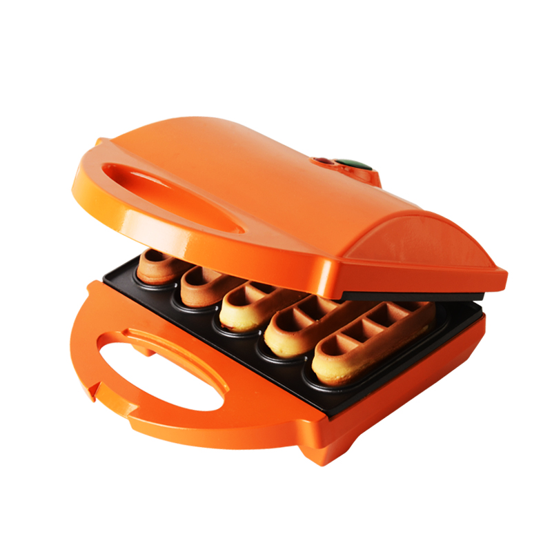 HONXIN cake machine Household Waffle machine Electric baking pan Muffin machine Suspension Sided heating Breakfast machine jiqi electric baking pan double side heating household cake machine flapjack pizza barbecue frying grilling plate large1200w