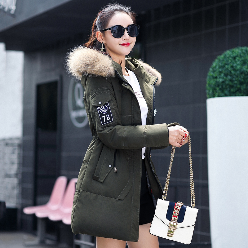 BIBOYMALL Winter Coat 2017 Military Coats Women Cotton Wadded Hooded Jacket Casual Parkas Thickness Plus Size Snow Outwear 2017 new winter women wadded jacket outerwear plus size hooded loose thickening casual cotton wadded coat parkas student ws299