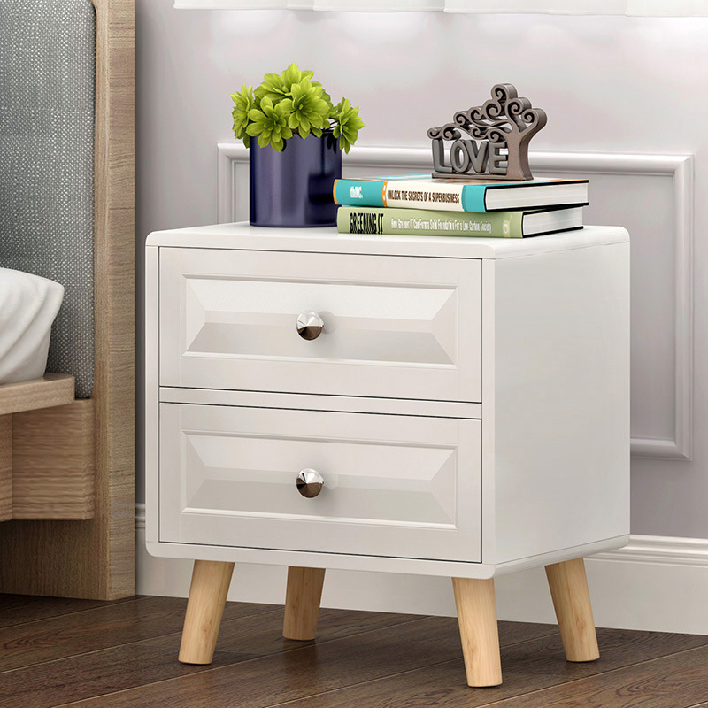 LK1663 High Quality Nightstands Northern Europe Style E Creative Bedroom Side Cabinet Storage Rack With Drawers  White