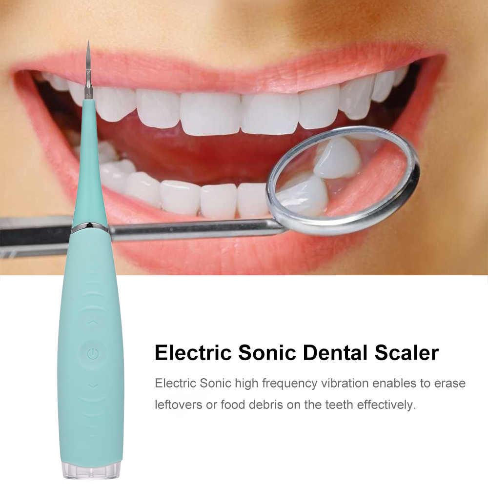 Diş Beyazlatma Diş Beyazlatıcı Elektrikli Sonic Diş Ölçekleyici Diş Calculus Remover Ile led ışık Kaldırır Tartar ve Lekeleri Bakımı
