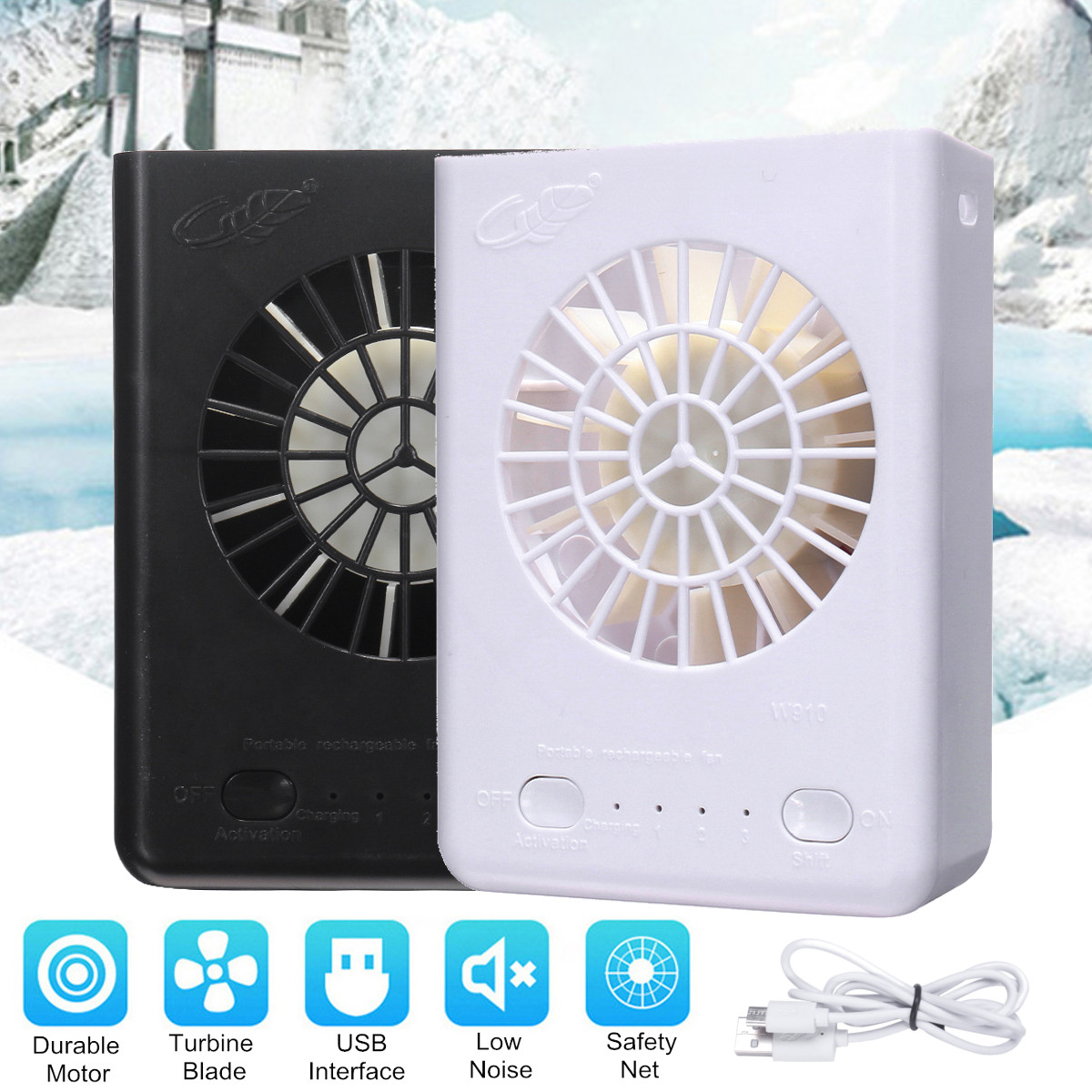 5W Portable Mini Fan USB Charging Turbofan Home Table Desktop Cooling Battery Powered Fan Air Conditioning Appliance 2 Colors