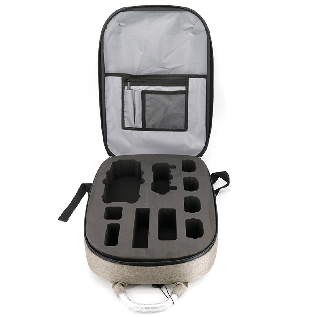 HOBBYINRC Waterproof HardShell Backpack Case Bag Sticker Battery Charger Storage Bag for DJI Mavic Pro Accessories White