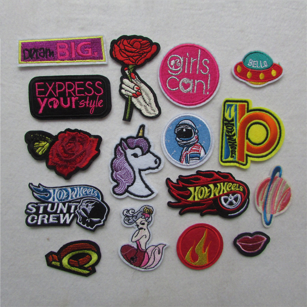 buy hot style heart patches for clothing iron on embroidered appliques diy. Black Bedroom Furniture Sets. Home Design Ideas