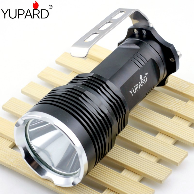 YUPARD outdoor fishing Bright  XM-L2  T6 LED camp Flashlight Torch Spotlight Searchlight deep reflector  long illumination portable flashlight torch light led rechargeable searchlight 30w long range bright spotlight for hunting and camp