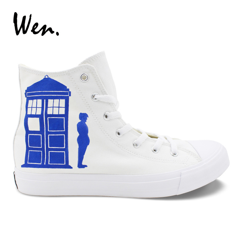 Men's Vulcanize Shoes Back To Search Resultsshoes Wen Custom Design Hand Painted Shoes Dw Police Box Keep Calm And Dont Blink Women Top Canvas Shoes Sneakers Men High Plimsolls Fixing Prices According To Quality Of Products