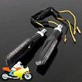 Universal Motorcycle Bike Turn Signal Light Intermitentes LED Moto Black Indicator Lamp for Kawasaki Ninja 300 Honda Shadow