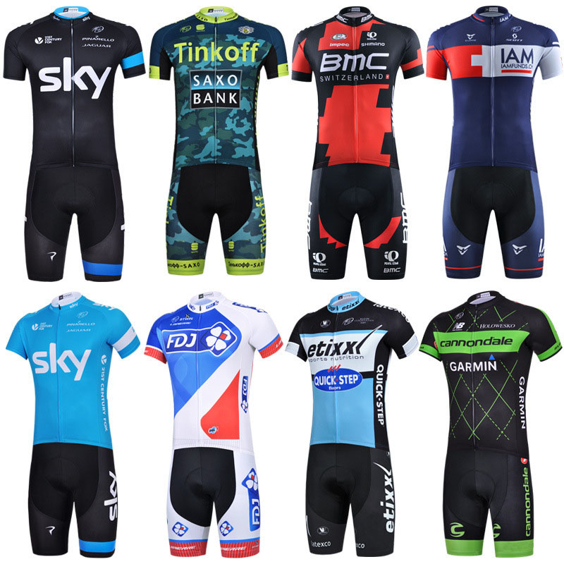 2017 sky bmc cyclisme equipe pro Cycling Clothing Bike clothes Quick Dry Men Bicycle clothes short sleeves Cycling Jerseys sets ckahsbi winter long sleeve men uv protect cycling jerseys suit mountain bike quick dry breathable riding pants new clothing sets