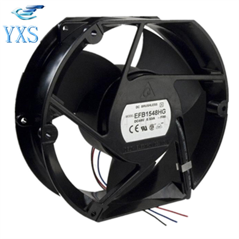 EFB1548HG DC 48V 0.53A 3350RPM 17251 172*150*51MM Communication Equipment Axial Flow Cooling Fan delta new efb1548vhg 17251 17cm 48v 0 83a circular drive cooling fan for 172 172 51mm