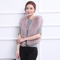 Womens' winter fox vest 2016 lady Fox Fur Vest Coat Winter Women Warm Thick Jacket fashion Short Solid Outwear