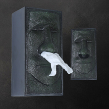 Abstract Easter Island Tissue Box Paper Towel Cute Wall Cover Holder Modern Home Decoration Boxes
