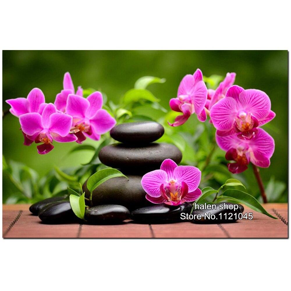 ⑤DIY diamante Bordado orquídea piedra cuadrado patrón rhinestone ...