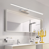 Anti fog 0.4 1M Bathroom Mirror Light Black/White Painted Iron Led Wall lamps Indoor Decorative Modern Sconces Lighting Fixtures