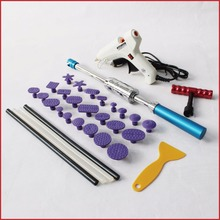 купить pdr tools kit dent puller hammer car body repair system lifter paintless remove dents removal set glue pulling tabs suction cup недорого