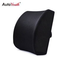 Memory Foam Lumbar Support Back Cushion Black With 3D Mesh Cover Balanced Firmness Designed For Office Chair Car Seat Recliner