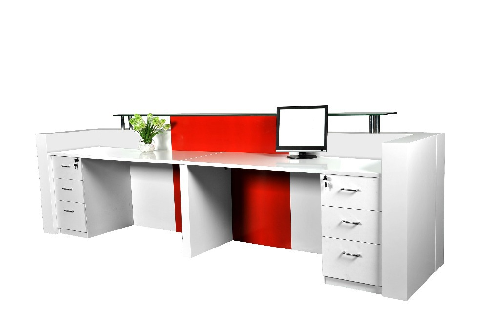 Customized 3m Long Por And Fancy Elegant Display Office Front Reception Desk Counter Furniture Qt3408 In Desks From On