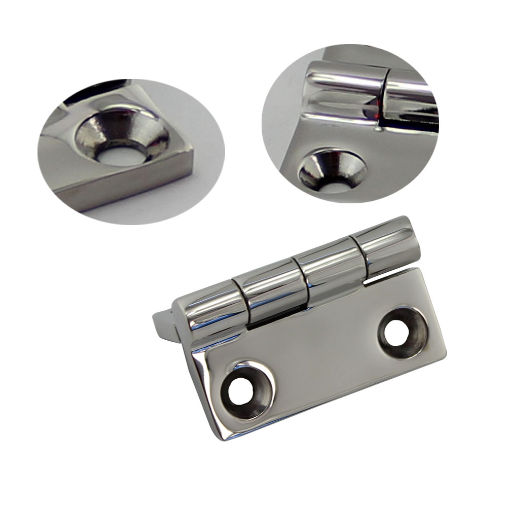 Image 4 - 50*50mm Stainless Steel 316 High Mirror Marine Square Hinge Boat Door Hinge Top Mirror Polished Boat/Yacht Square Hinge 5PCS-in Marine Hardware from Automobiles & Motorcycles