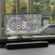 Автомобильный Стайлинг автомобиля HUD светоотражающая пленка Head Up дисплей Система пленка авто аксессуары OBD II Расход топлива дисплей превышения скорости