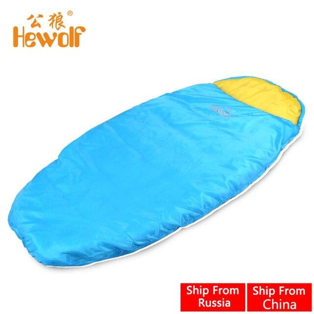 Hewolf Ultralight Outdoor Children Sleeping Bag Envelope Compression Cotton Keep Warm Camping Tent Bed Equipment