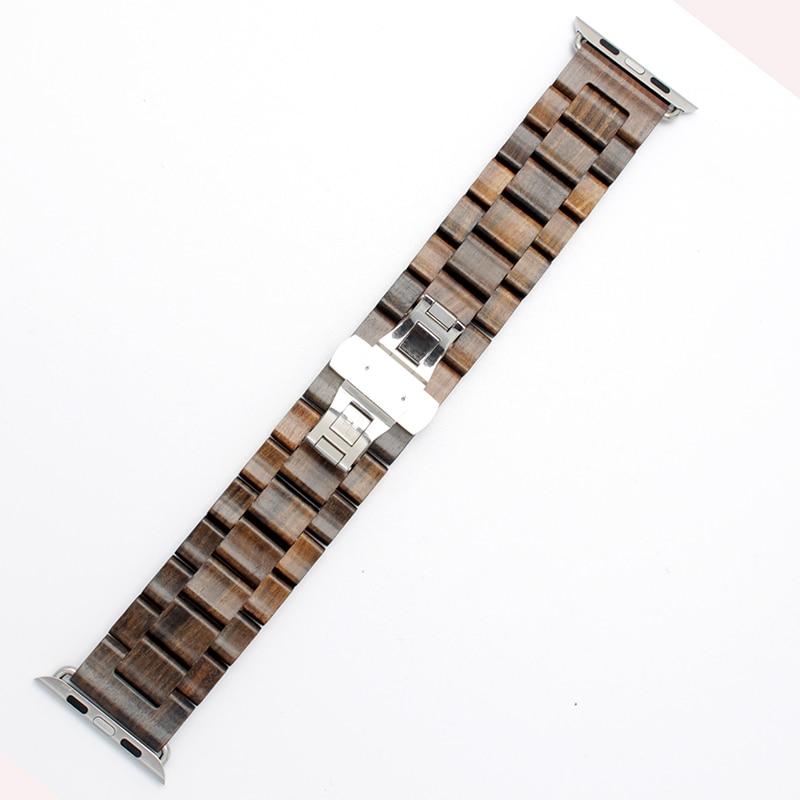 Uus puidust käevõru 22mm 24mm iwatch riba 38mm 42mm kvaliteediga - Kellade tarvikud - Foto 5