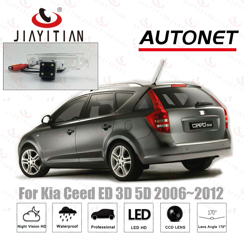 JIAYITIAN Rear View Camera For Kia Ceed Sid SW Wagon 2006 2007 2008 2009 2010 2011 2012 Backup Parking Reverse Camera HD CCD