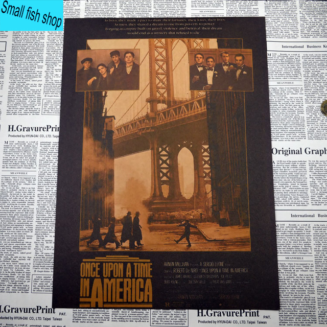 Once Upon A Time In America Classic Old Movie Poster Home Furnishing