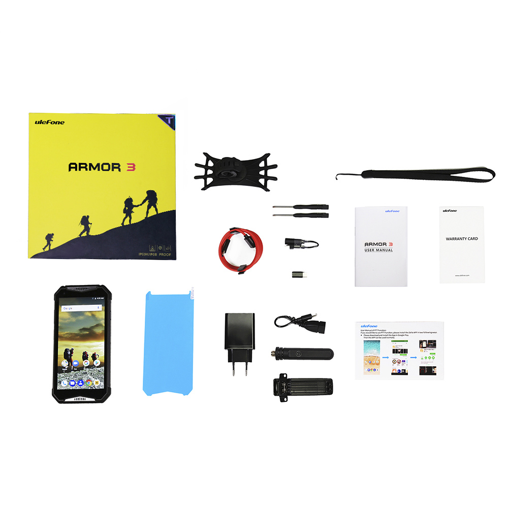 Image 5 - Ulefone Armor 3T IP68 Waterproof Mobile Phone Android 8.1 5.7inch 21MP helio P23 Octa Core NFC 10300mAh Walkie Talkie Smartphone-in Cellphones from Cellphones & Telecommunications
