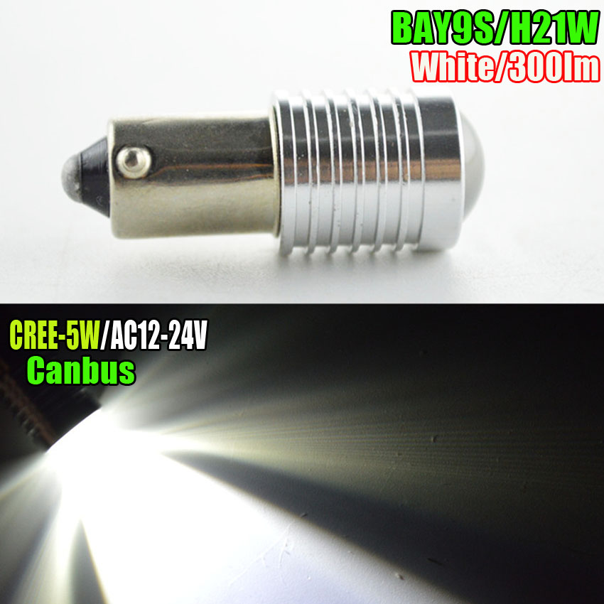 1/2/4/10 Pcs/lot AC12V High Power BAY9S H21W C' REE LED Canbus Error Free 120 Degree Side Reverse Siginal Fog Light Bulbs White 2pcs brand new high quality superb error free 5050 smd 360 degrees led backup reverse light bulbs t15 for jeep grand cherokee