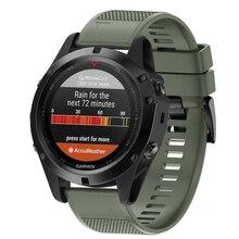 Fistar 26 22mm Pulseira de Silicone Pulseira de Relógio de Substituição Para Garmin Garmin D2 Charlie Descida Mk1 Sport GPS Smartwatch