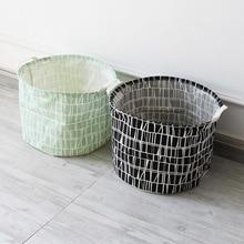 ROSEHOME Zakka Style Cloth Storage Basket Plaid Storage Bags Sundries Kitchen Organization Laundry Basket Toy Book Dirty Clothes