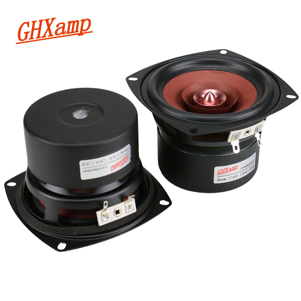 GHXAMP 2 stücke 4 zoll Vollständige Palette Lautsprecher Vocal Instrument Original Sound Trele Mitte Bass Monitor Ebene 4OHM 25 watt