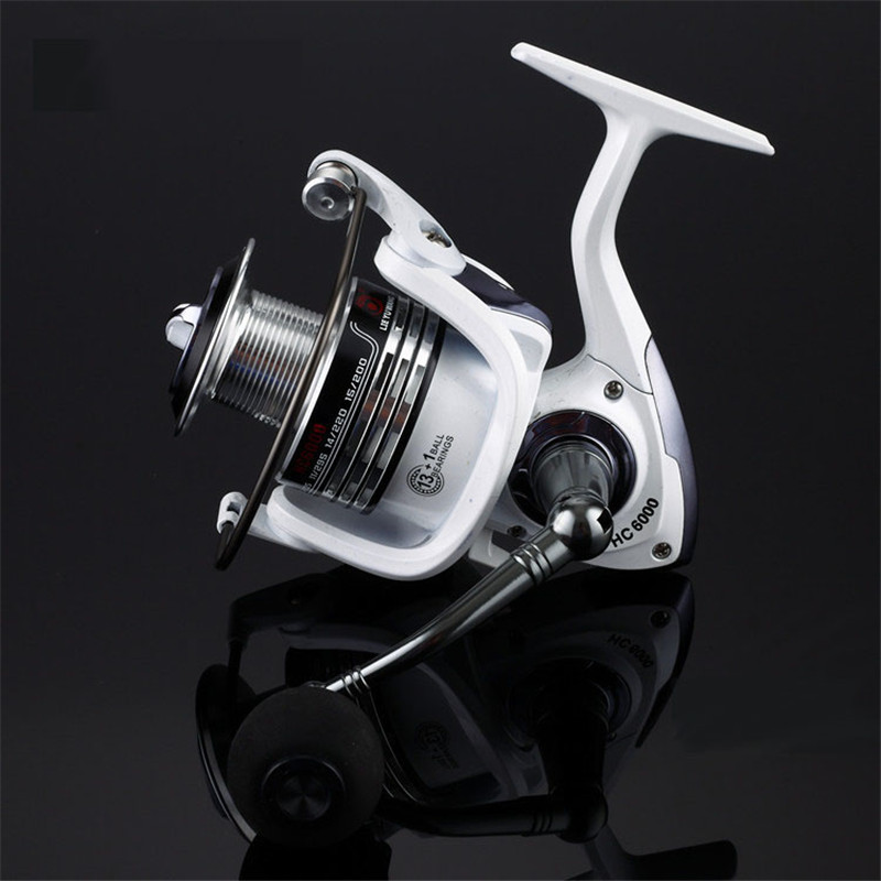 ФОТО LIEYUWANG 14BB Spinning Fishing Reel HC2000 - 5000 HC7000 7000  Full Metal handle Body Carp Fishing Reel Spinning Reel rock fish