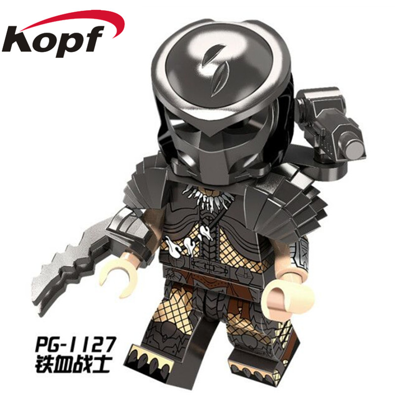 Single Sale Super Heroes The Movie Series Predator One-Eyed Alien Bricks Collection Building Blocks Children Gift Toys PG1127 single sale building blocks super heroes bob ross american painter the joy of painting bricks education toys children gift kf982