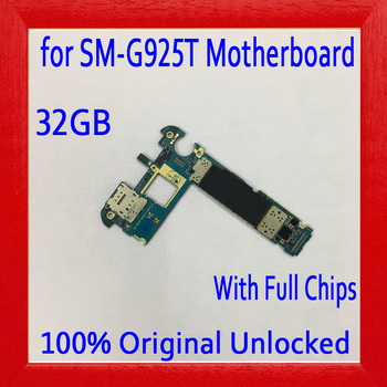 32GB for Samsung Galaxy S6 Edge G925T Motherboard with Full Chips,Original unlocked for Galaxy S6 G925T Mainboard,Free Shipping