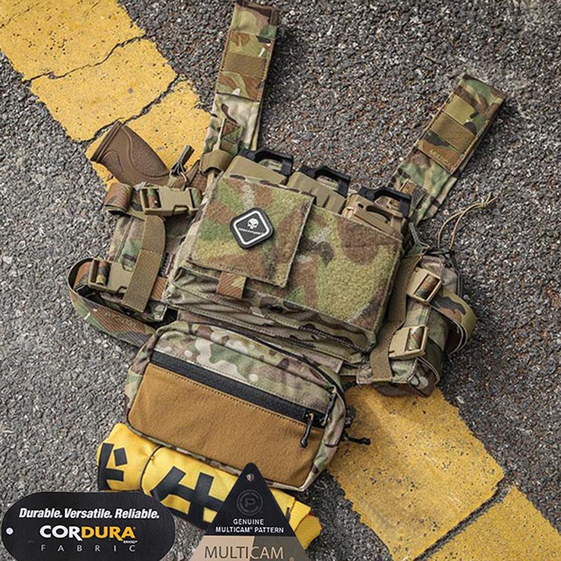 Emerson Chest Rig Micro Fight MK3 Modular Lightweight Chest Rig with 5 56 Mag Pouch SACK