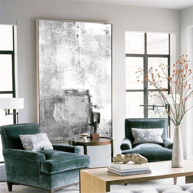Schon HAOCHU Minimalistischen Bild Kreative Vorstellen Schwarz Weiß Leinwand  Malerei Abstrakter Druck Hintergrund Wand Kunst Eingang Büro Schlafzimmer