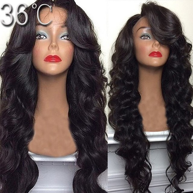 Vigin Hair Full Lace Wigs Peruvian Full Lace Human Hair Wigs Glueless Body  Wave Human Hair Lace Front Wig U Part Wig Black Women e6e524707c88