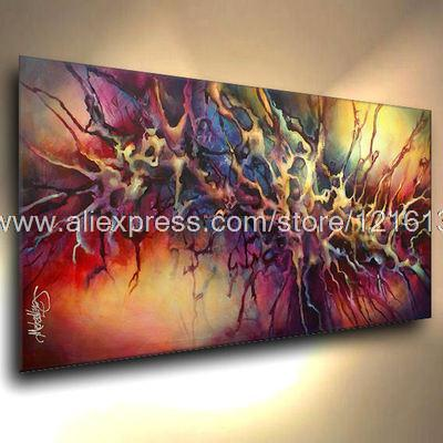 Wonderlijk Abstracte moderne Achtergrond verf abstract acryl schilderijen TE-72