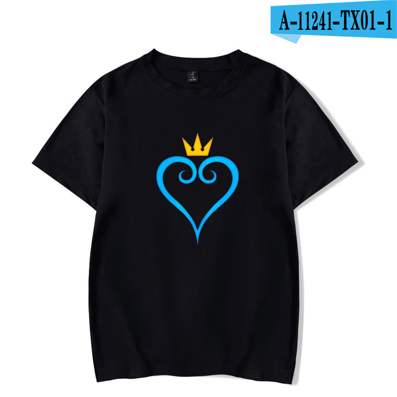 Anime T Shirt Kingdom Hearts Short Sleeve Shirts Men Women 3D Printed T Shirts Men Causal Harajuku Vintage Cartoon T Shirt in T Shirts from Men 39 s Clothing
