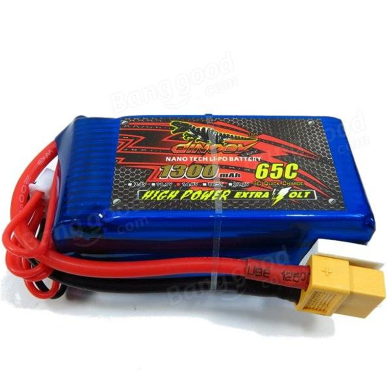 ФОТО In Stock Giant Power Dinogy 1300mAh 14.8V 4S 65C XT-60 LiPo Battery For RC Airplane Multicopters FPV Racing Drone