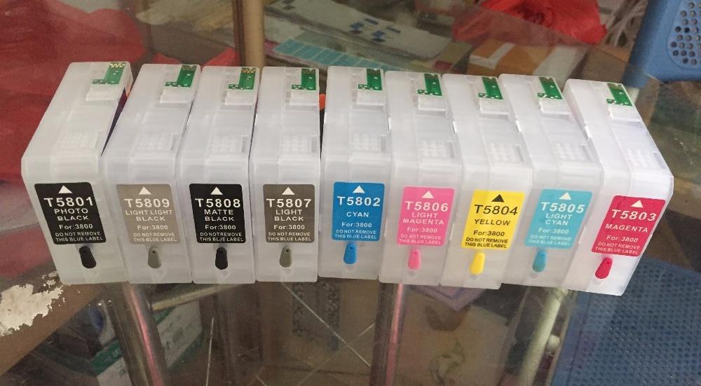 For Epson 3880 refillable cartridges  For Epson Stylus Pro 3800 3880 For  T5801 T5802 T5803 T5804 T5805 T5806 T5807 T5808 T5809 hfbr 5803