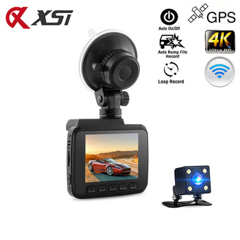 XST 2.4 Inch FHD 4K 2160P Novatek 96660 Car DVR Dash Camera WiFi GPS Navigation Car Camera Dual Lens Dash Cam Loop Recording image
