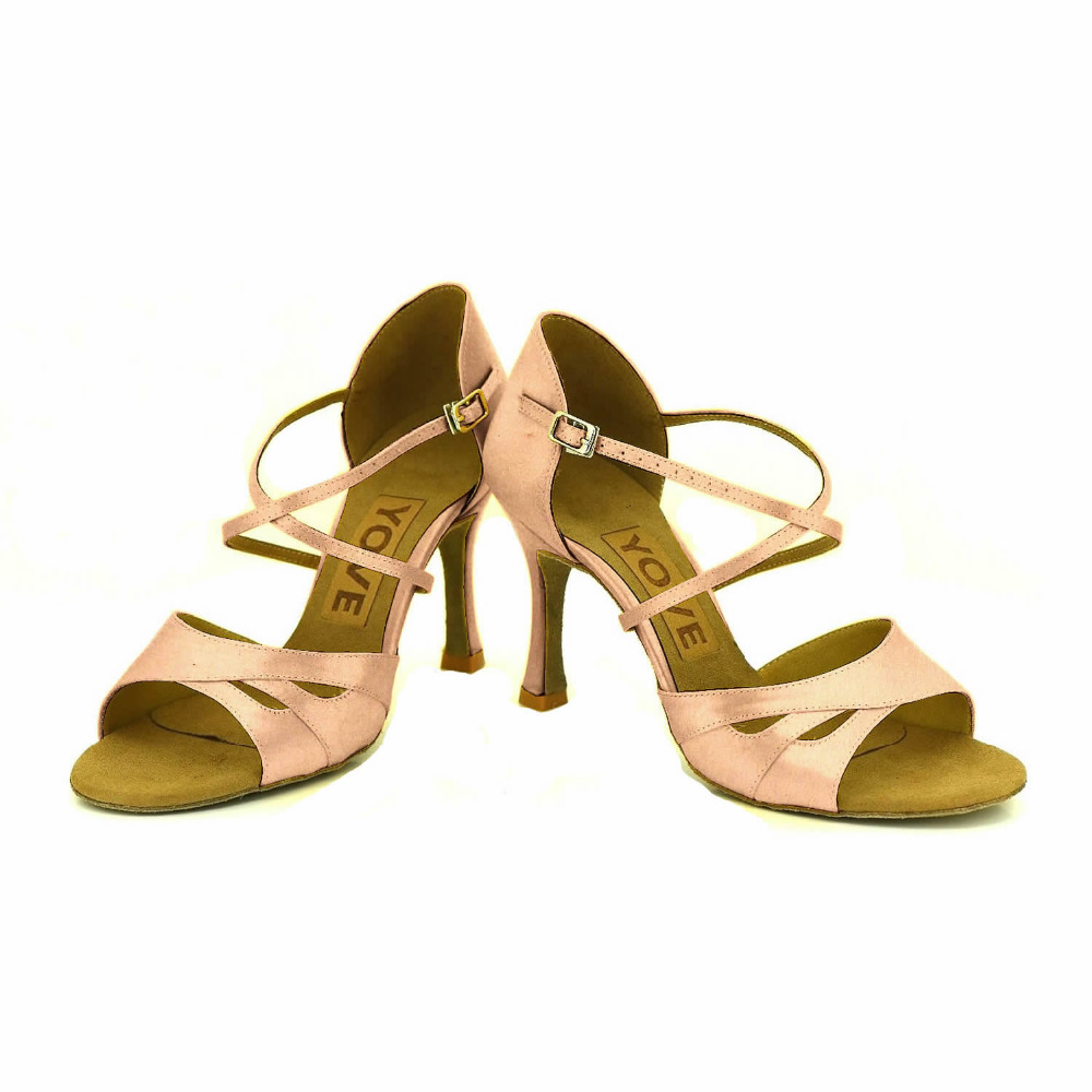ФОТО YOVE Customizable Dance Shoe Satin Women's Latin/ Salsa Dance Shoes 3.5