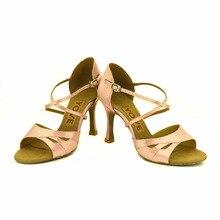 YOVE Dance Shoe Satin Women's Latin/ Salsa Dance Shoes 3.5″ Flare High Heel More Color z-011