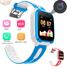LIGE brand childrens smart watch kid watches LBS positioning real-time monitor sos call voice chat gift reward baby
