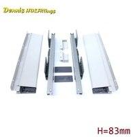 1Pairs Lot 14 35CM H4512 Heavy Duty Ball Bearing Drawer Slide Slides Runner Rail 1 2