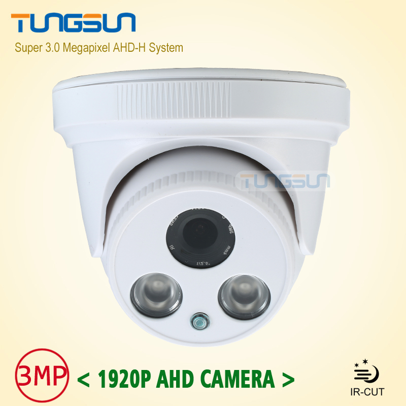 ФОТО New Home Super 3MP HD AHD 1920P Camera Security CCTV White Dome 2pcs Array infrared Night Vision Surveillance Camera AHDH System