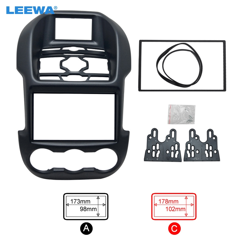 Car refitting DVD frame,DVD panel,Dash Kit,Fascia,Radio Frame,Audio frame for Ford Ranger,(Luxury type),2DIN #CA2836 2 din car dvd frame dashboard kits front bezel radio frame adaper dvd cover dash trim kit for kia rio 5 door rhd double din