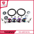 JDM Neo Chrome Quick Release Fasteners For Car Bumpers Trunk Fender Hatch Lids Kit Rastuningparts  RS-QRF001N