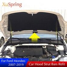 Для ford mondeo 2007- mk4 mk5 автомобильный чехол для двигателя стойки для подъемной опоры пружинный кронштейн гидравлический стержень аксессуары для стайлинга автомобилей