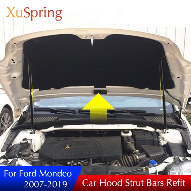 Pour ford mondeo 2007-2019 mk4 mk5 couverture de moteur de voiture barres de contrefiche support de ressort de levage tige hydraulique accessoires de style de voiture
